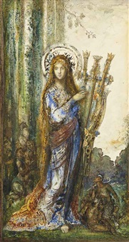 les satyres by gustave moreau