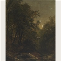 study of a forest interior in the mountains by asher brown durand