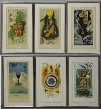 lyle stuart tarot card suite (set of 6) by salvador dalí