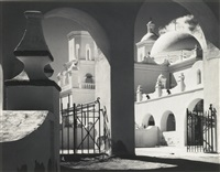 arches, north court, mission san xavier del bac, tucson, arizona by ansel adams