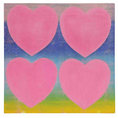 hearts pink by andy warhol