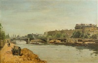 view of seine, paris by stanislas lépine