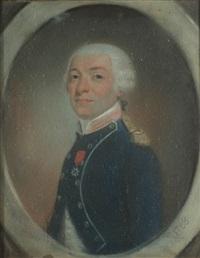 portrait de joseph antoine de gallier (?) by jean pierre grasson
