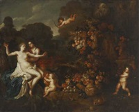 jupiter nähert sich callisto in gestalt der diana by jan pauwel gillemans the elder