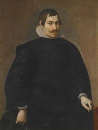 portrait of a gentleman, three-quarter length by diego rodríguez de silva y velásquez