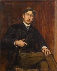 portrait de marcel de lagrevol by lucien simon