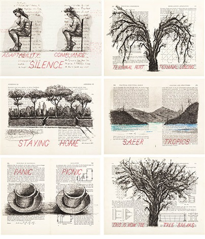 sleeping on glass series by william kentridge
