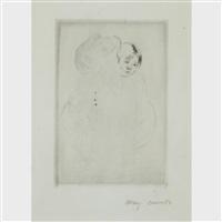 denise holding her child by mary cassatt