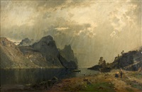 fjords à la fonte des neiges by georg anton rasmussen