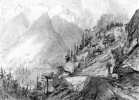 a view in the swiss alps by charles francis annesley