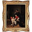family scene by ernst georg fischer