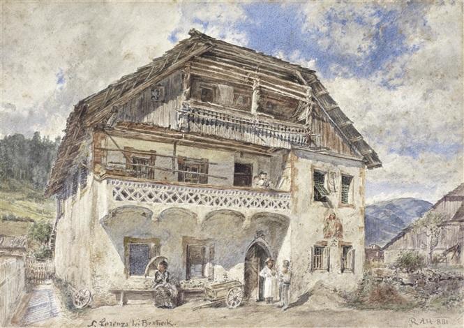 st lorenzen bei bruneck by rudolf von alt