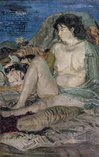 wanita dan alam (woman and nature) by s. sudjojono