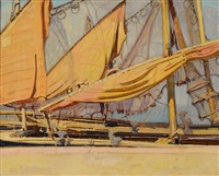 sails at chioggia by ernest martin hennings
