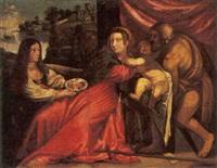 madonna con bambino, san giovanni battista e dama che dona alcuni frutti by italian school-ferrara (17)