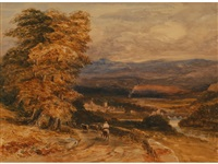 the veil of llangollen by david cox the elder