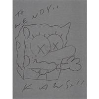 drawing spongebob by kaws