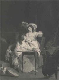 deux jeunes femmes a leur toilette by jean-simon fournier