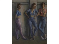 three ballerinas by moses soyer