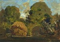 building a haystack, hampton, victoria by theodore penleigh boyd
