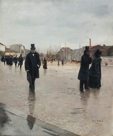leaving montmartre cemetery by jean béraud