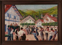 fandango ou fête de village à espelette by maurice guiraud-rivière