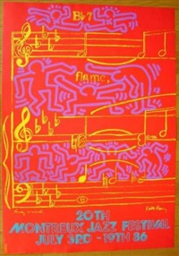 20th montreux jazz festival by keith haring and andy warhol