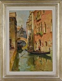 venetian scene by angelo brombo