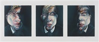 trois études pour un autoportrait (after three studies for a self-portrait 1979) (3 works) by francis bacon