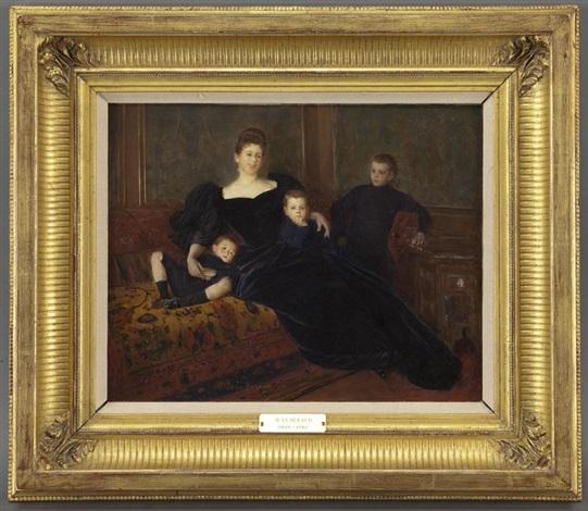 marguerite fernand bourdet et ses trois fils by jean béraud