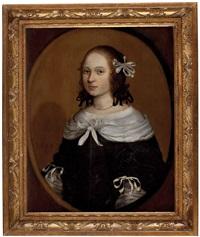 portrait einer jungen dame by willem van honthorst