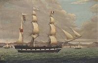 the merchant barque renown heading down the clyde outward-bound for the west indies by duncan mcfarlane
