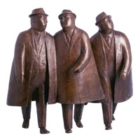 three businessmen by william hodd mcelcheran