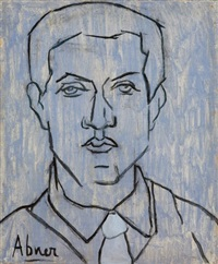 autoportrait bleu by abner