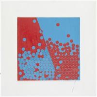 vermillion + torquoise (discs) by wilhelmina barns-graham