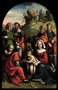 madonna col bambino e santi by benvenuto tisi da garofalo