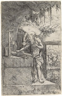 st. jerome in the grotto by albrecht altdorfer