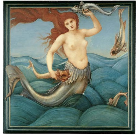 a sea nymph by edward burne jones
