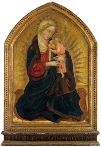 vierge à l'enfant by master of borgo alla collina