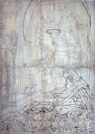 scène d'intérieur á tanger (preparatory drawing) by josé tapiro y baro