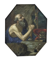 saint jerome in the wilderness by cesare dandini