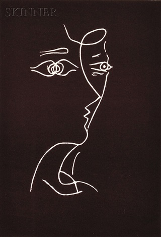 untitled (profile) by georges braque