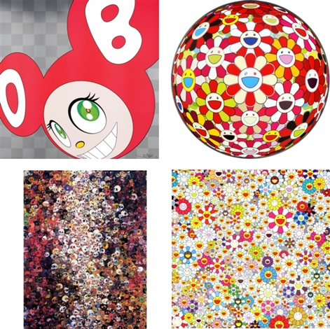 and then and then and then and then and then red flowerball goldfish colors 3d i know not i know field of smiling flowers set of 4 by takashi murakami
