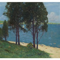 old cedars, connecticut lake by charles warren eaton