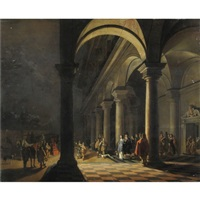notturno con partenza da palazzo by hendrick van steenwyck the younger