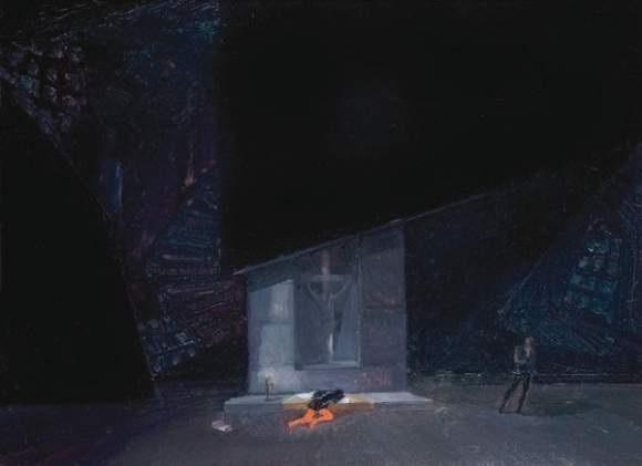 projet de décor pour hamlet par shakespeare by natan isaevich altman