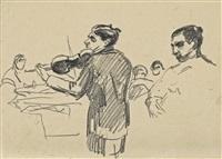 violinist by edvard munch
