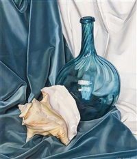 blue and white variations by luigi lucioni