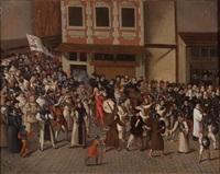 la procession des ligues by frans pourbus (-unattributable)