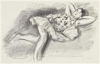 danseuse étendue au divan (dancer extended on couch) (from dix danseuses) by henri matisse